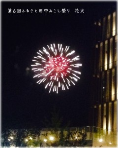 ふるさと田中みこし祭りの花火