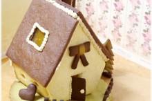 チョコクッキーでヘクセンハウス(お菓子の家)